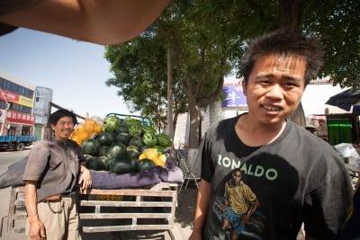 Liu Peng gave me a nice seedless watermelon on June 27th, 2008