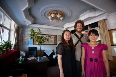 These friendly travel agents helped me find a hotel room when everything was booked out in Jiayuguan on July 5th, 2008