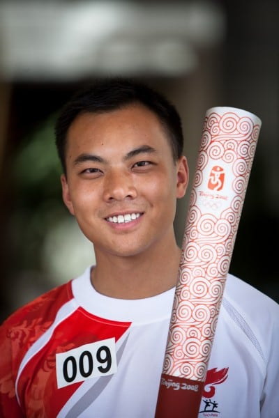 Pan Hu allowed me to hold the Olympic Torch on July 6th, 2008