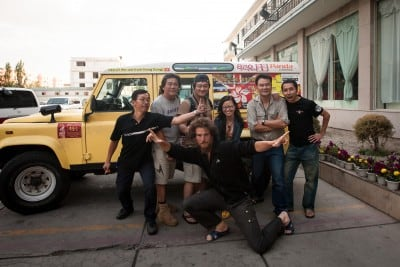 These 4x4 teamsters from Hong Kong gave me a t-shirt and lots of energy drinks on July 14th, 2008