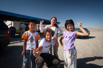 These friends from the toll station near Nancha helped us fix our vehicle on July 28th, 2008