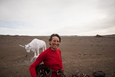 This lady from South Africa cared to stop for a chat in the middle of nowhere on October 5th, 2008