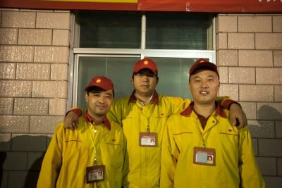 These guys from the gas station at Turpan let me use their restroom when it was really urgent on October 17th, 2008