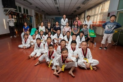 Zhu Hui's Taekwondo Club welcomed me on September 11th, 2010