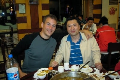 Huihui's brother invited me to dinner on September 14th, 2010