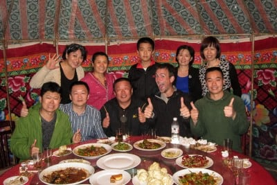 Some of the good people of Kuytun invited me to dinner on September 19th, 2010