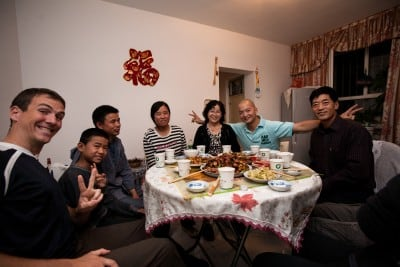 Lei Sheng's family invited me to dinner for the Mid Autumn festi