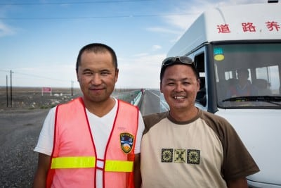 These guys gave me a reflecting vest so I would be safer on the road on August 9th, 2012