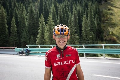 Victor from Spain brought some joy to an otherwise tough mountain road on August 27th, 2012