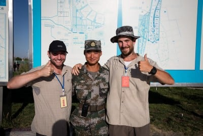 This friendly soldier at the border checkpoint of Korghas took a photo with us on September 6th, 2012