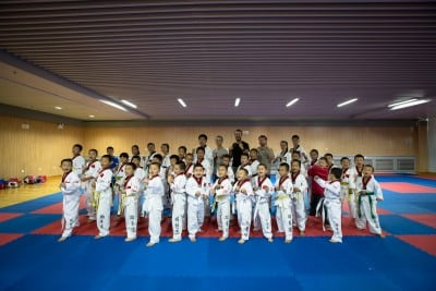 Lei Sheng's Taekwondo club bid us welcome on September 9th, 2012
