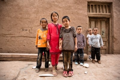 These little guys in Kashgar took photos with us on September 16
