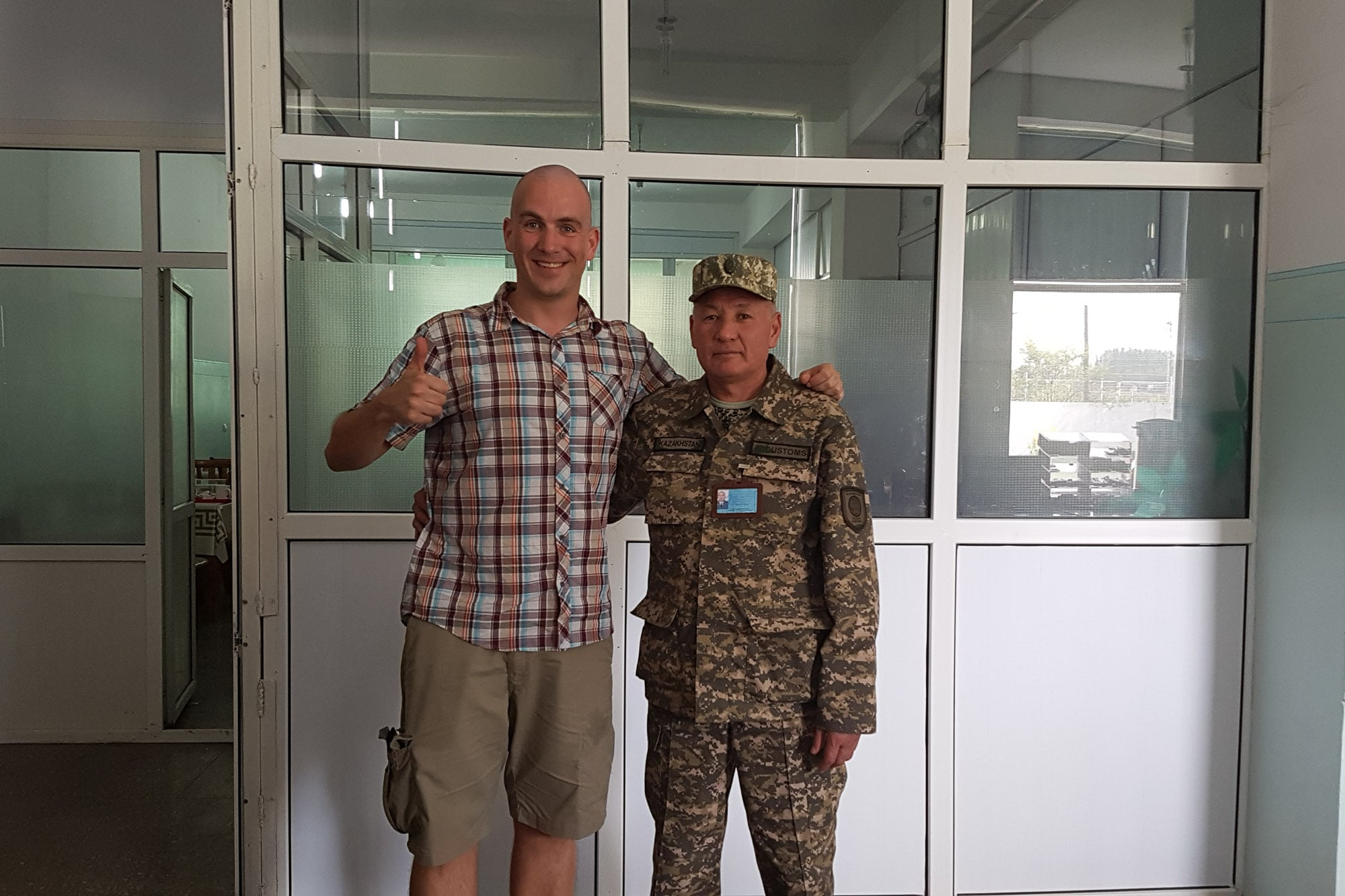 Marad invited me to lunch on the Kazakh border