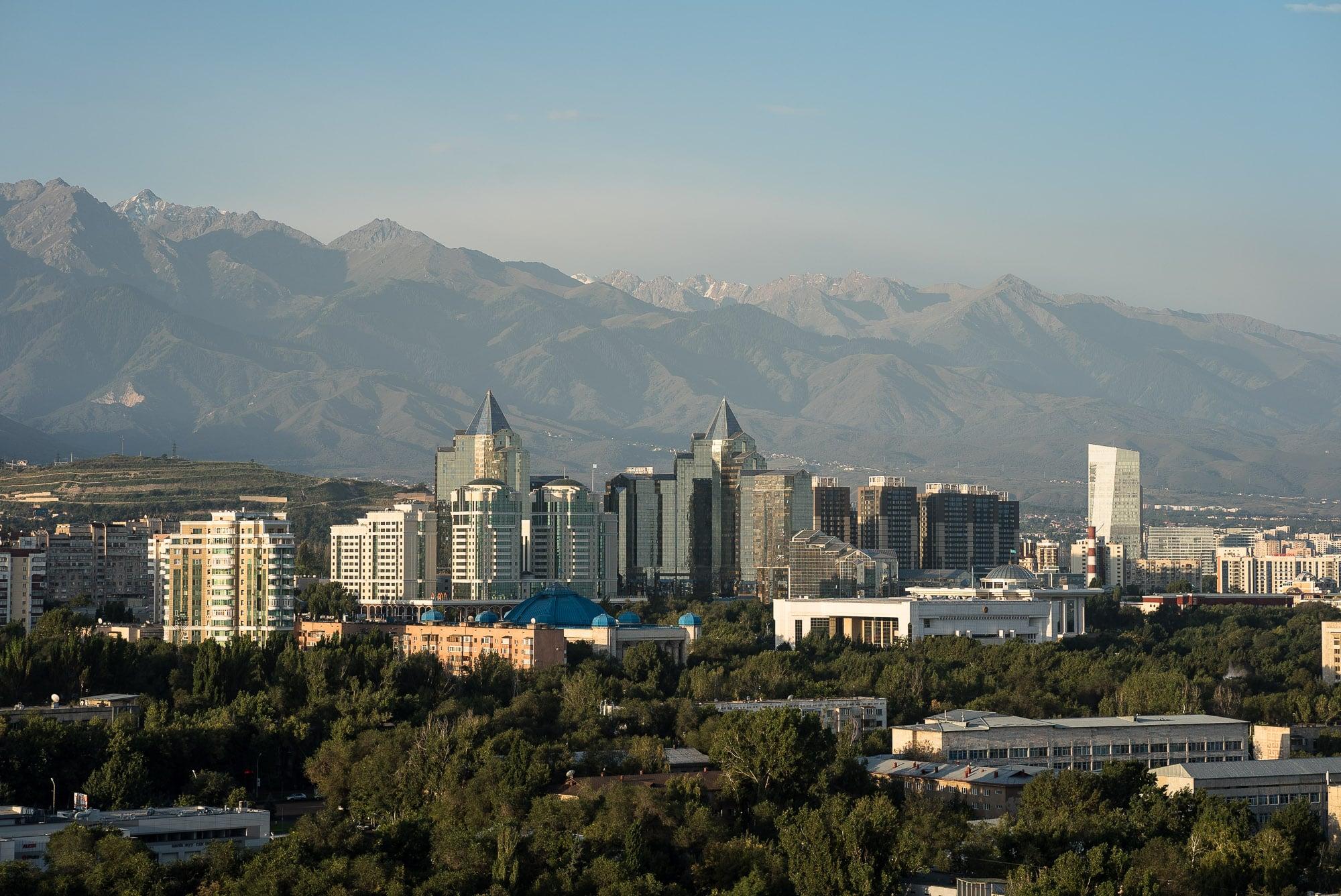 Almaty in the morning