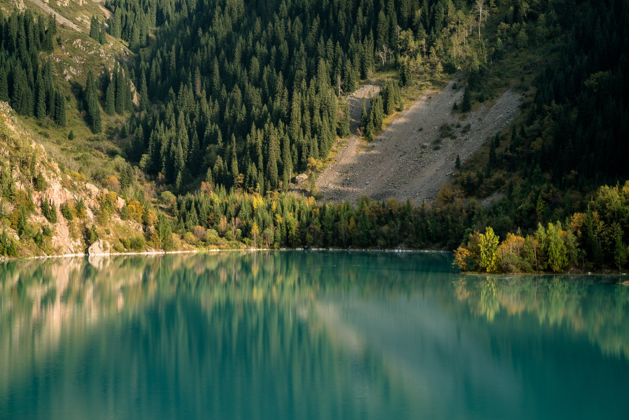 reflections in Lake Issyk