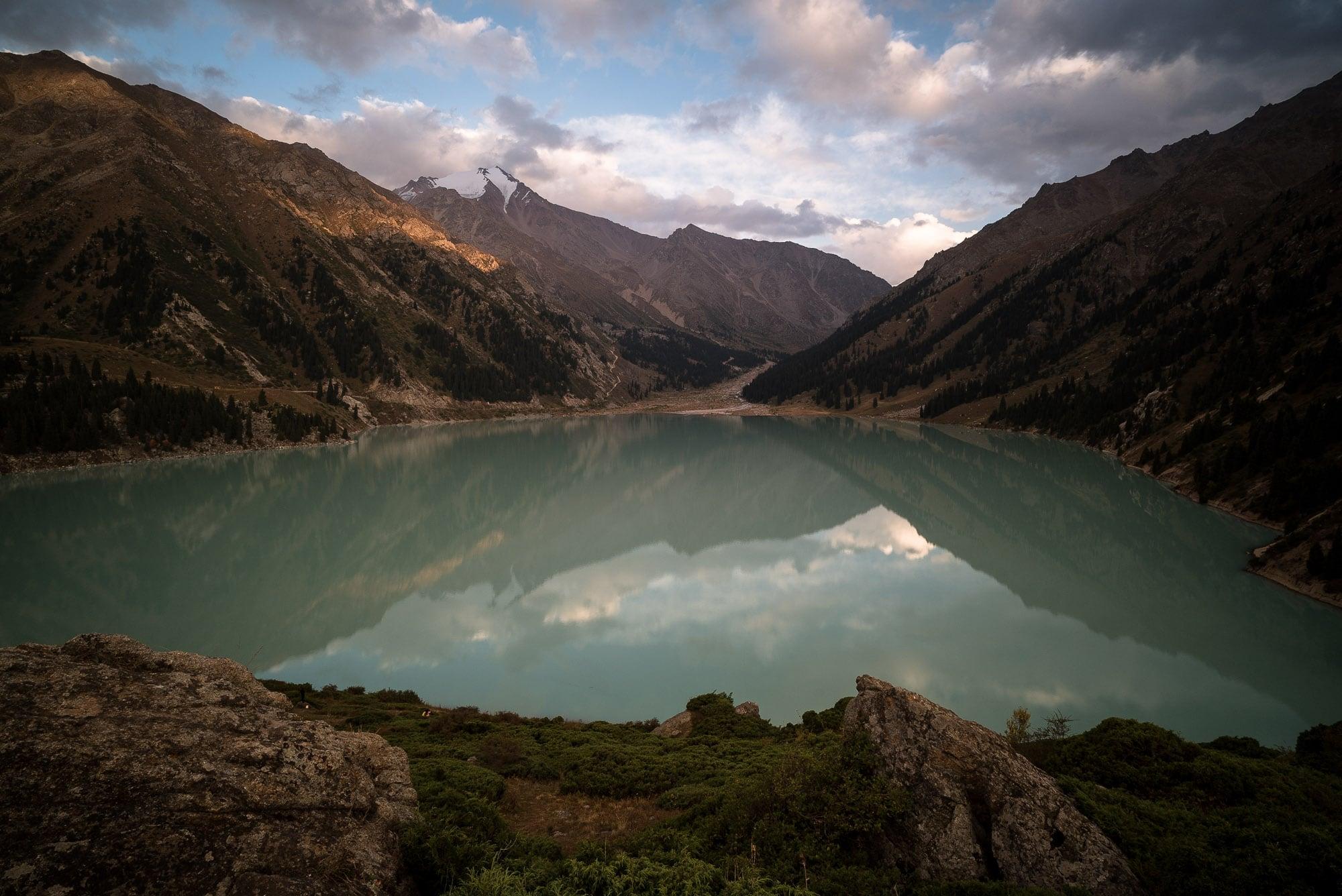 afternoon light over Big Almaty Lake