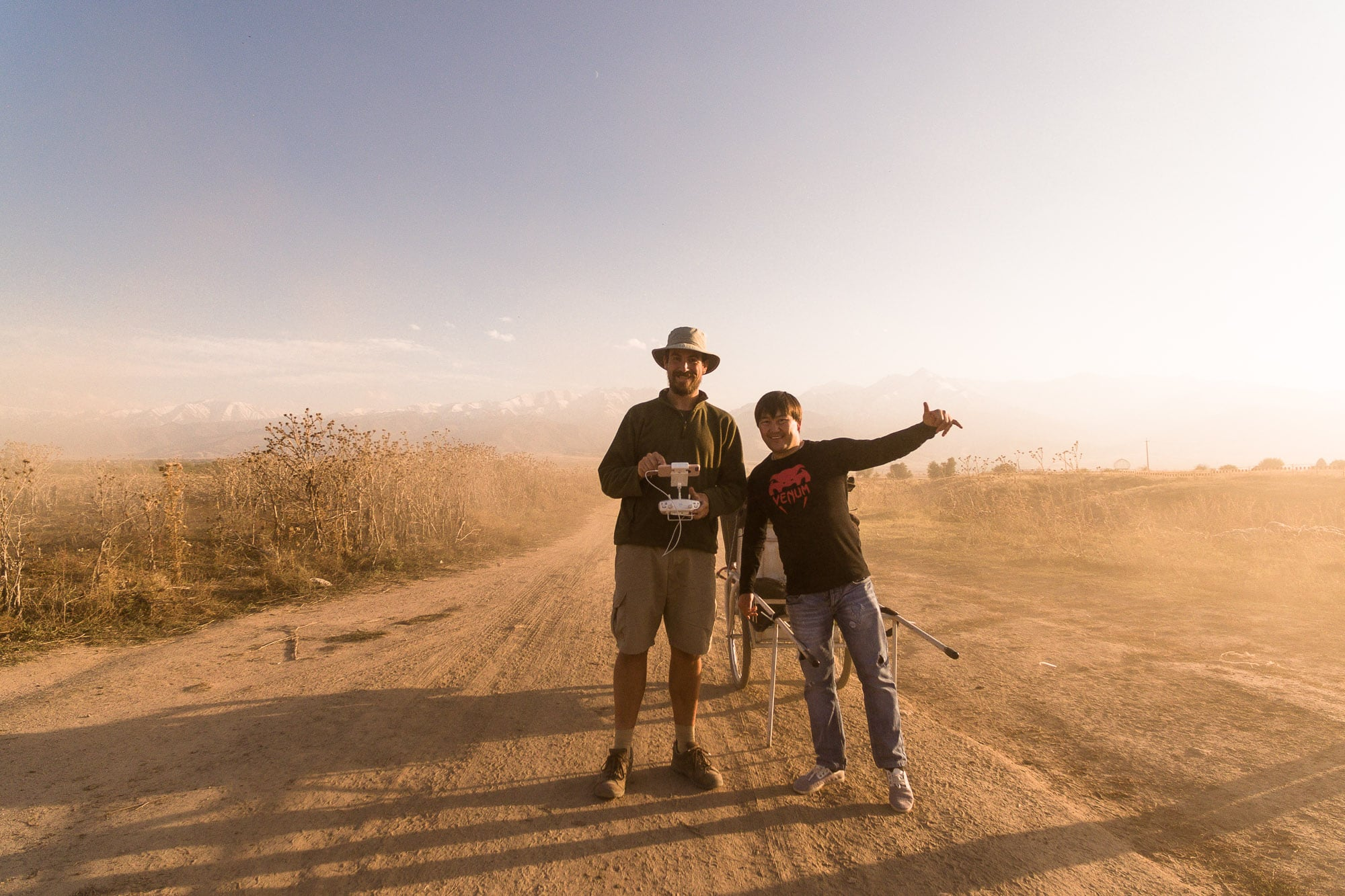 with Kyal in the dust