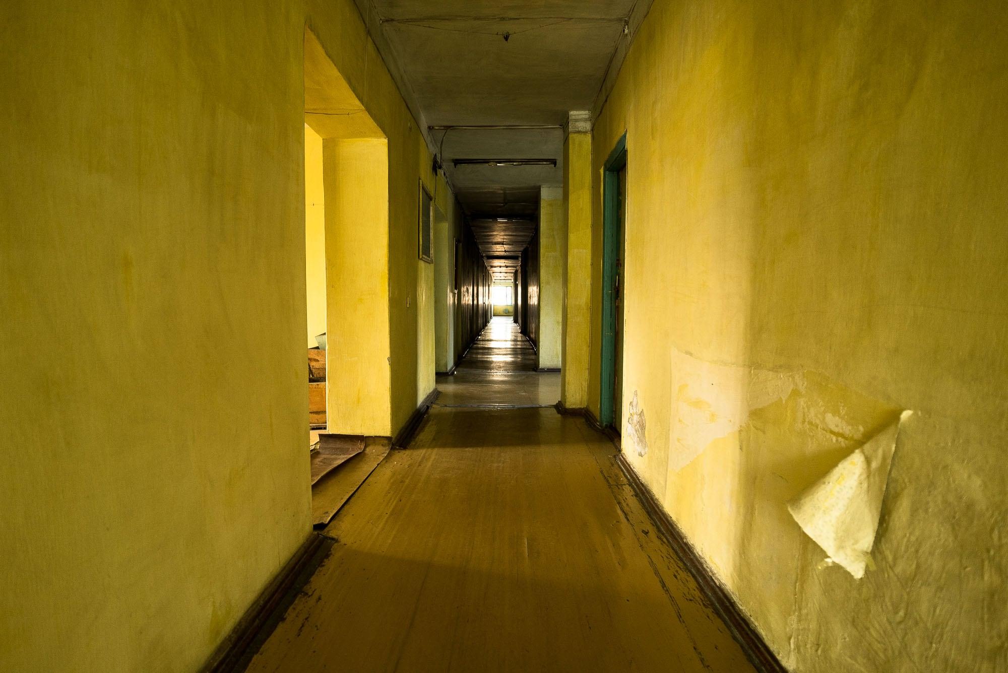 hotel corridor in Kara-Balta