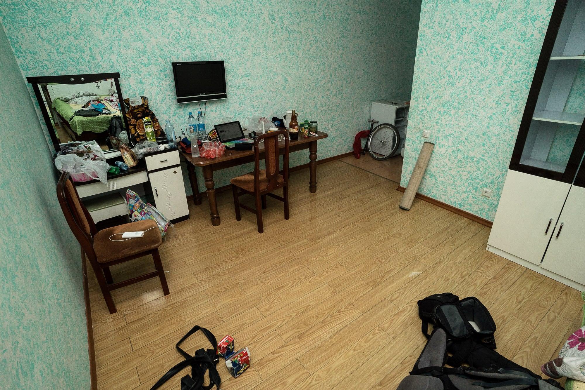 hotel room in Turar Ryskulov