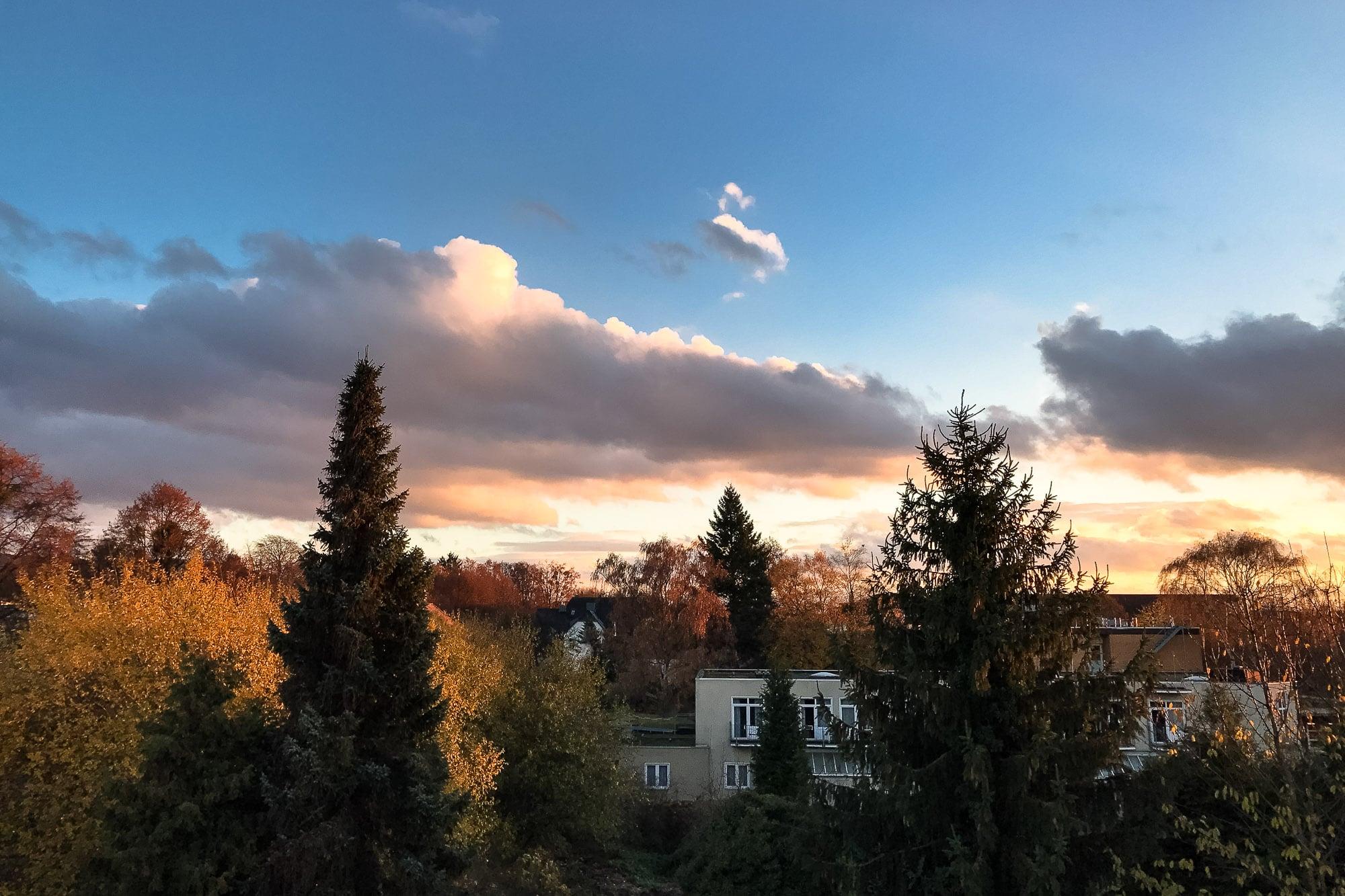 evening light over Bad Nenndorf