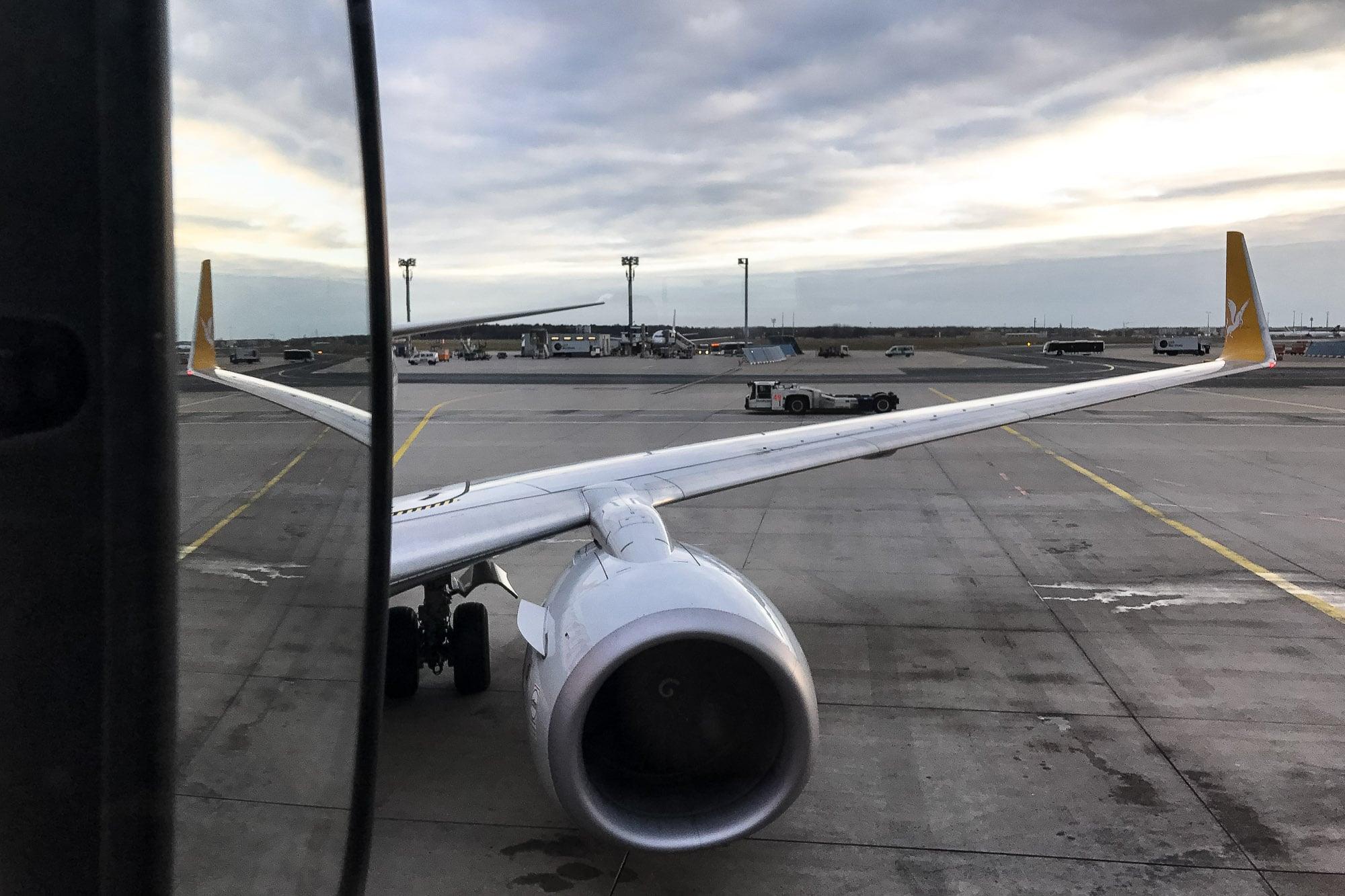 plane ride to Kyrgyzstan