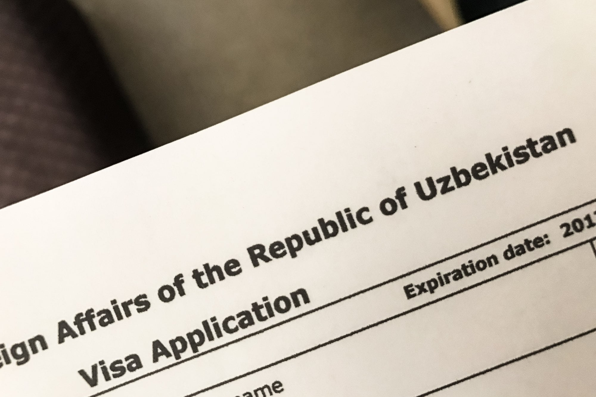 uzbek visa application