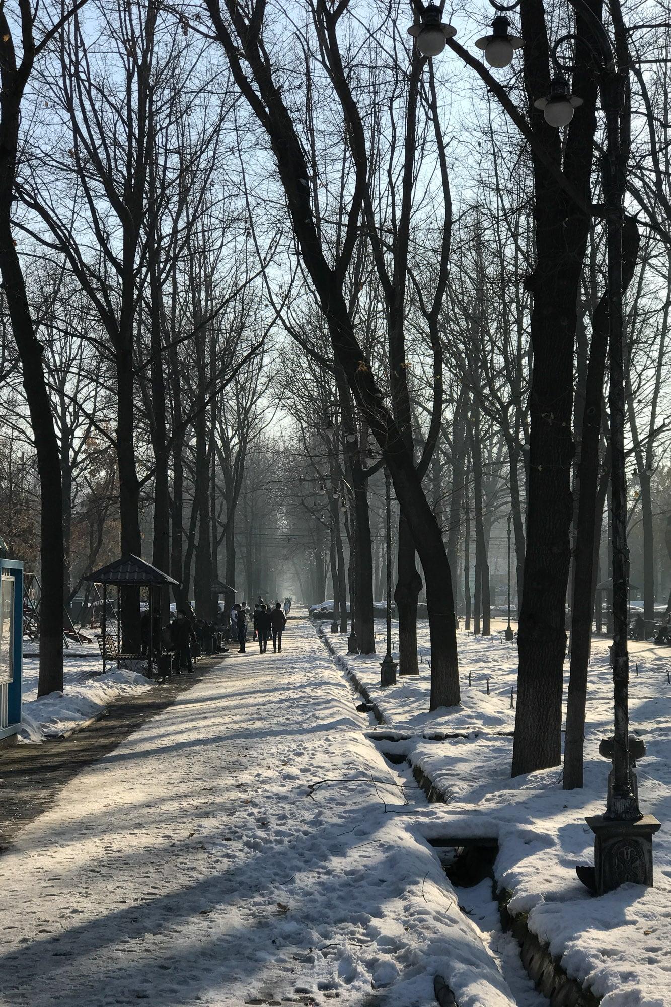 snow in Bishkek