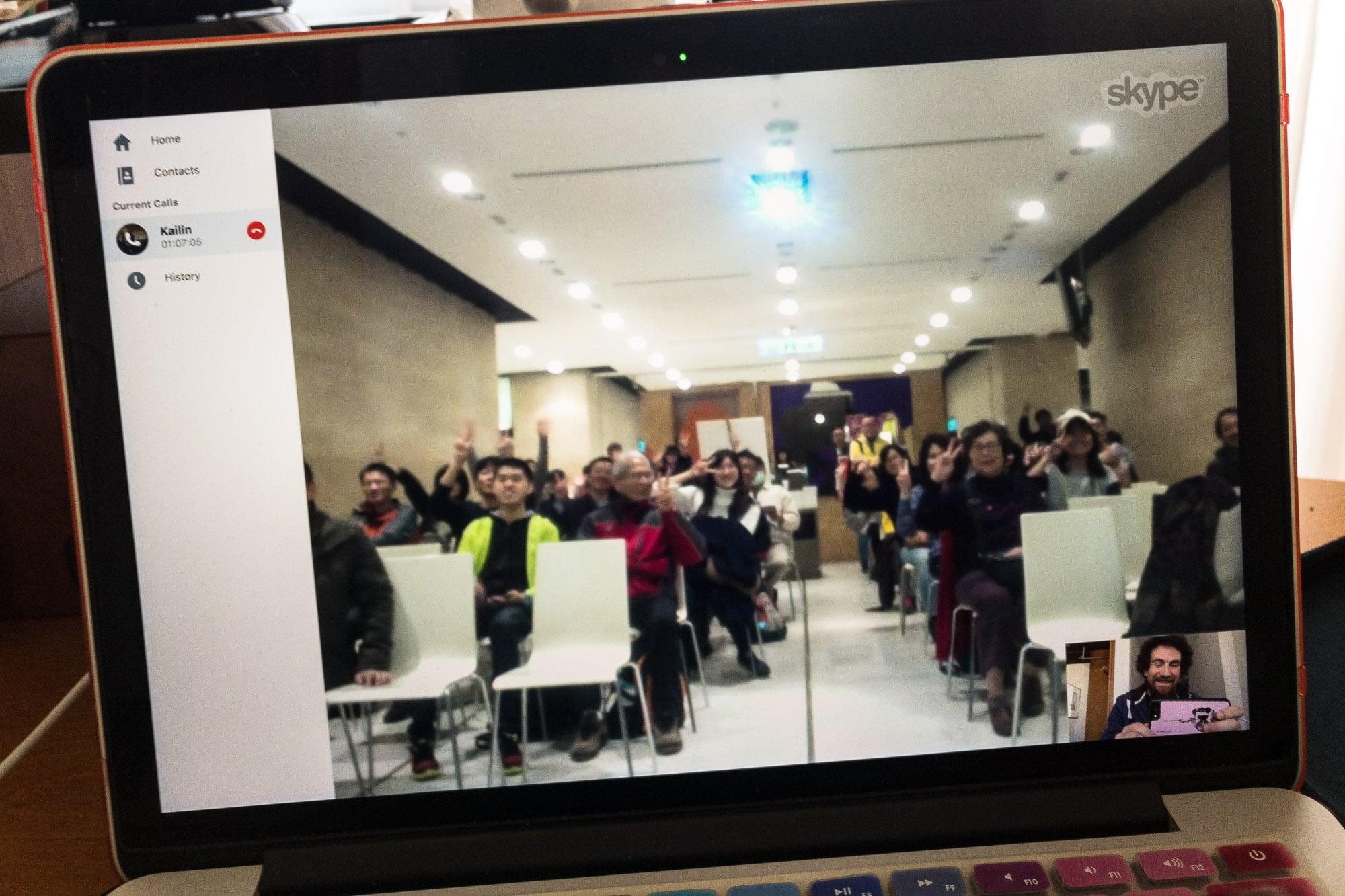 Skype with Taiwan