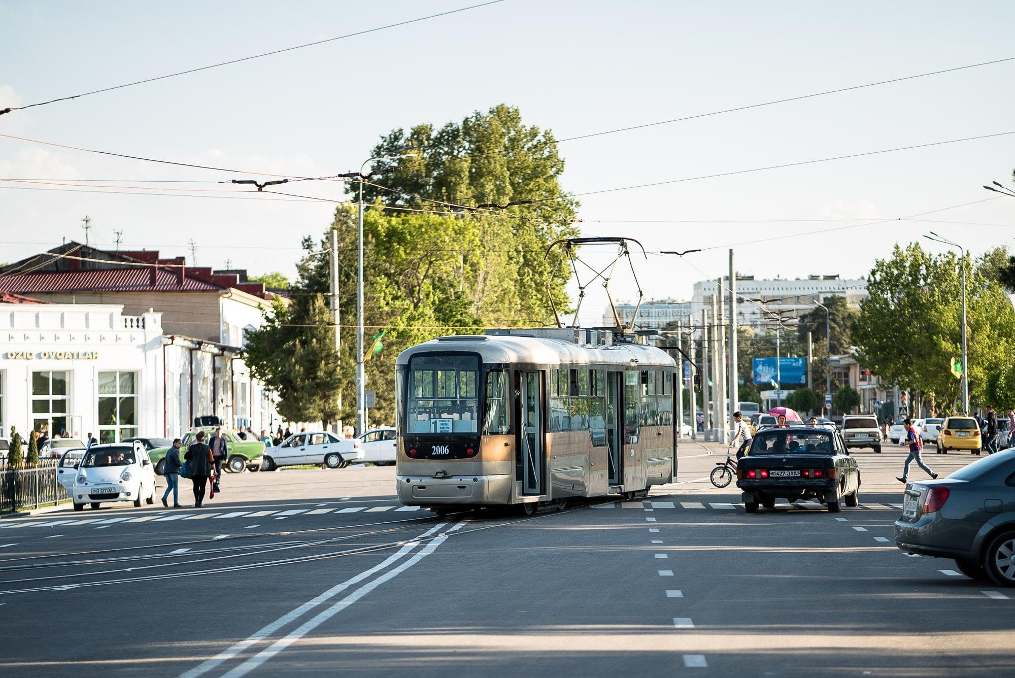 tram in Samarkand