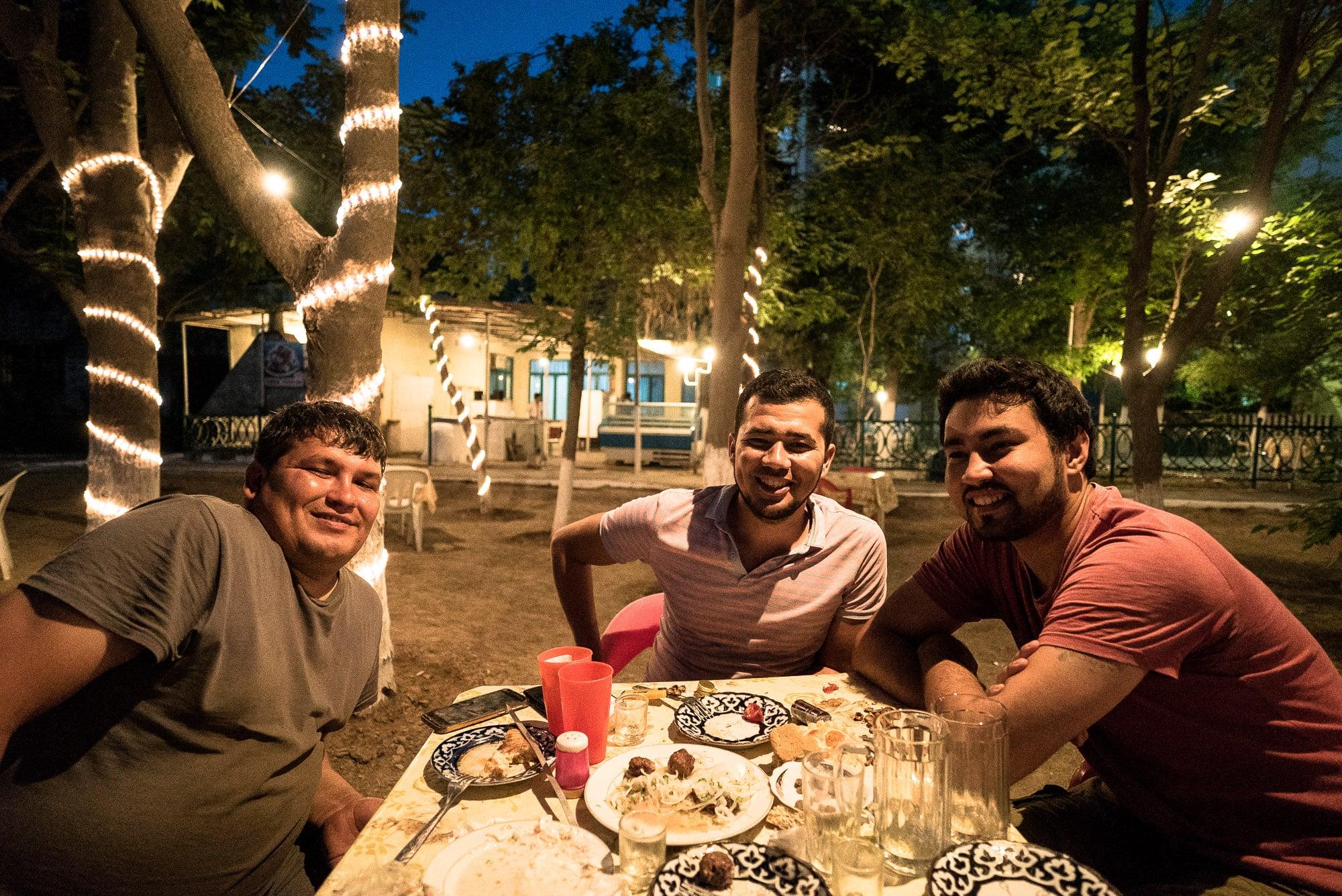 with Batir, Ruslan, and Giovanni