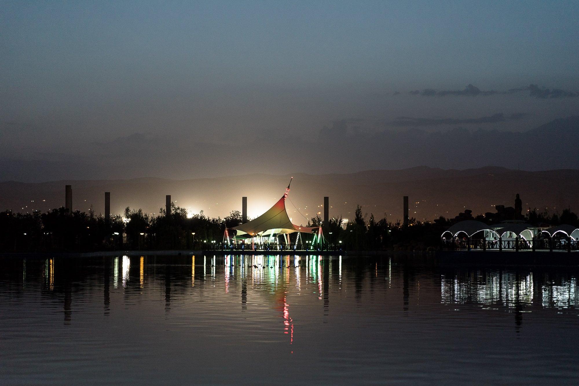 Dushanbe at night
