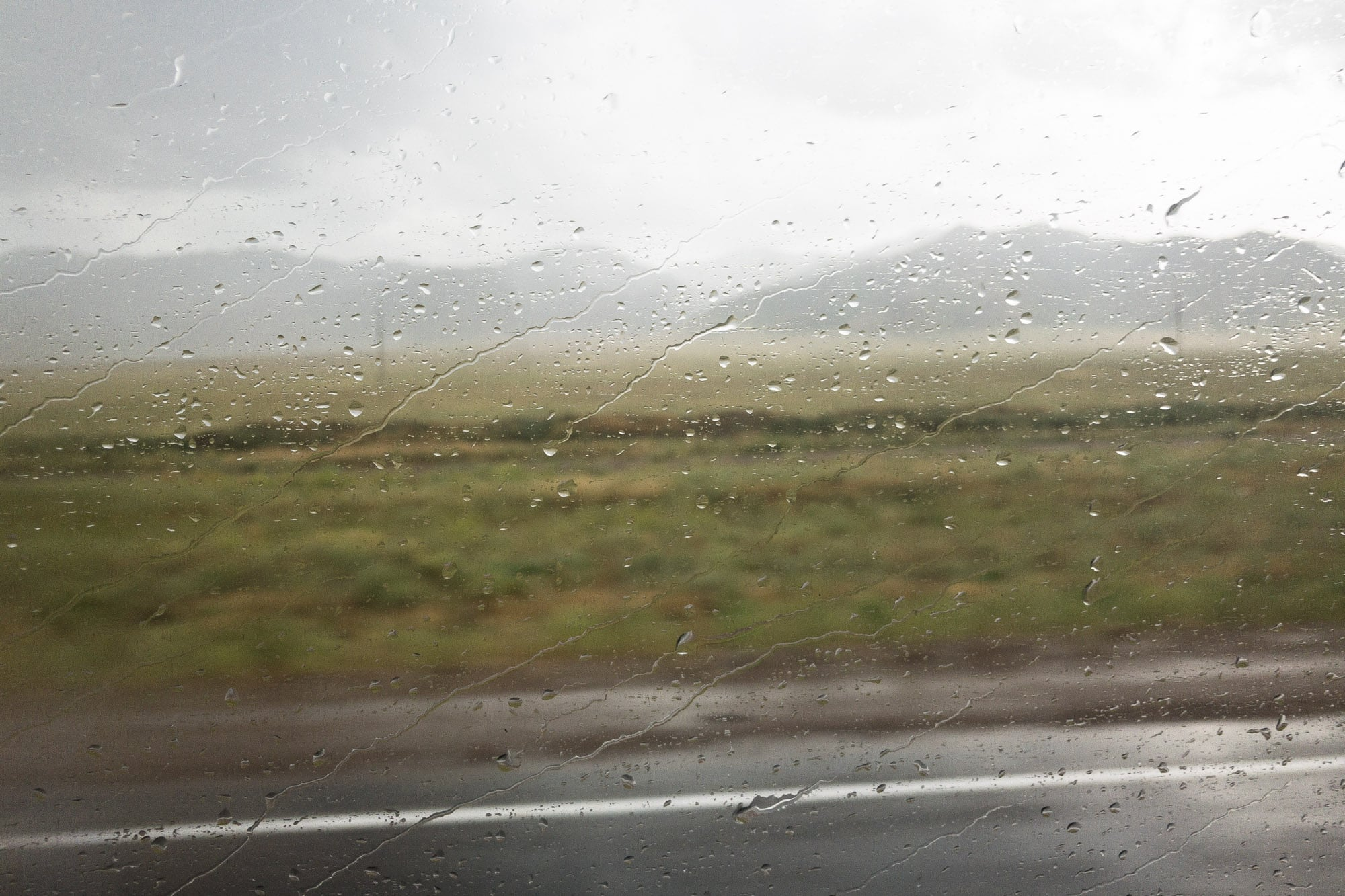 rain on the steppe