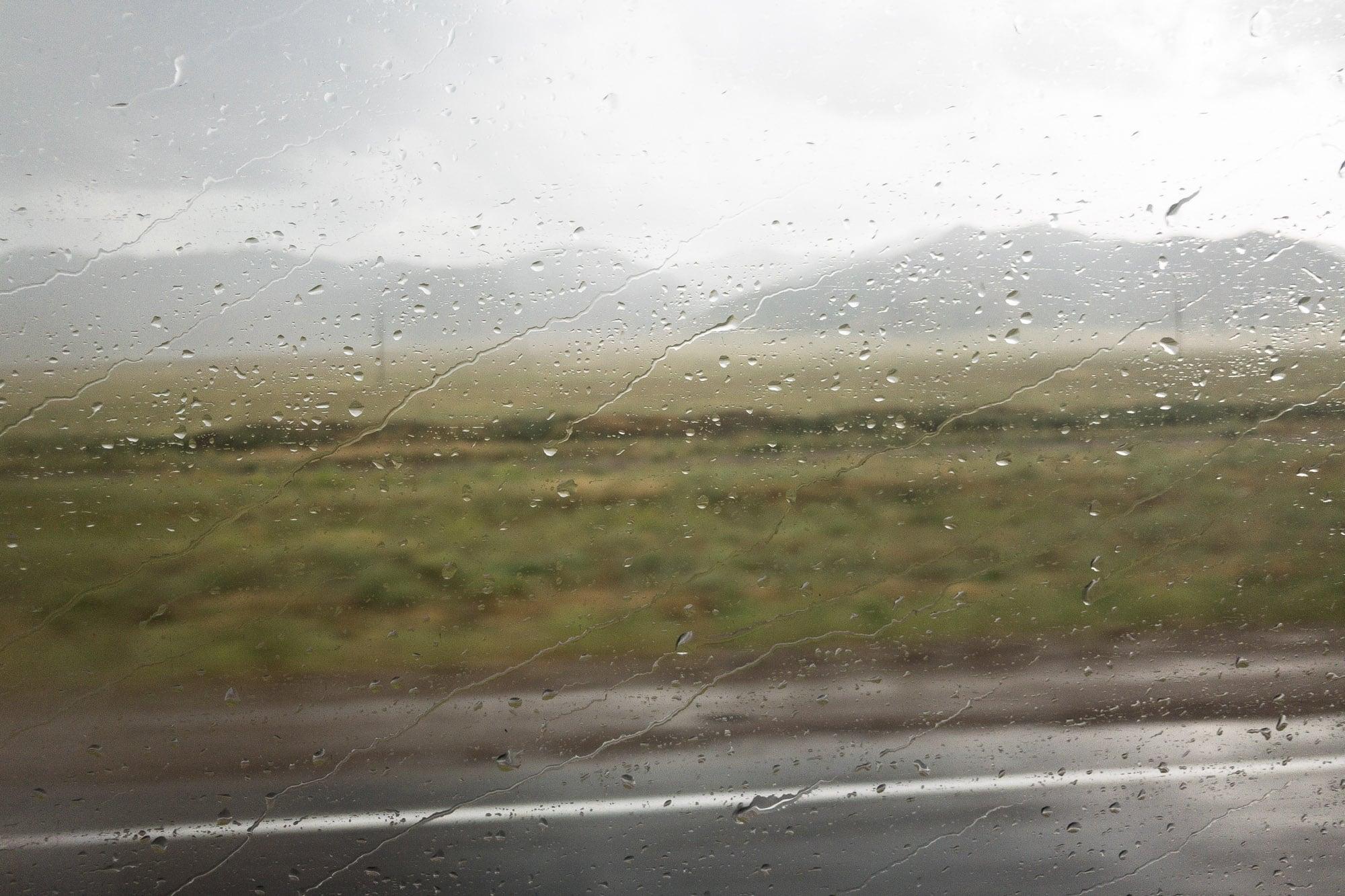 rain on the steppe