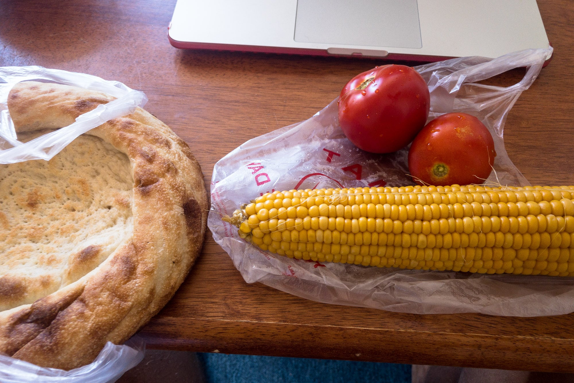 lunch with corn
