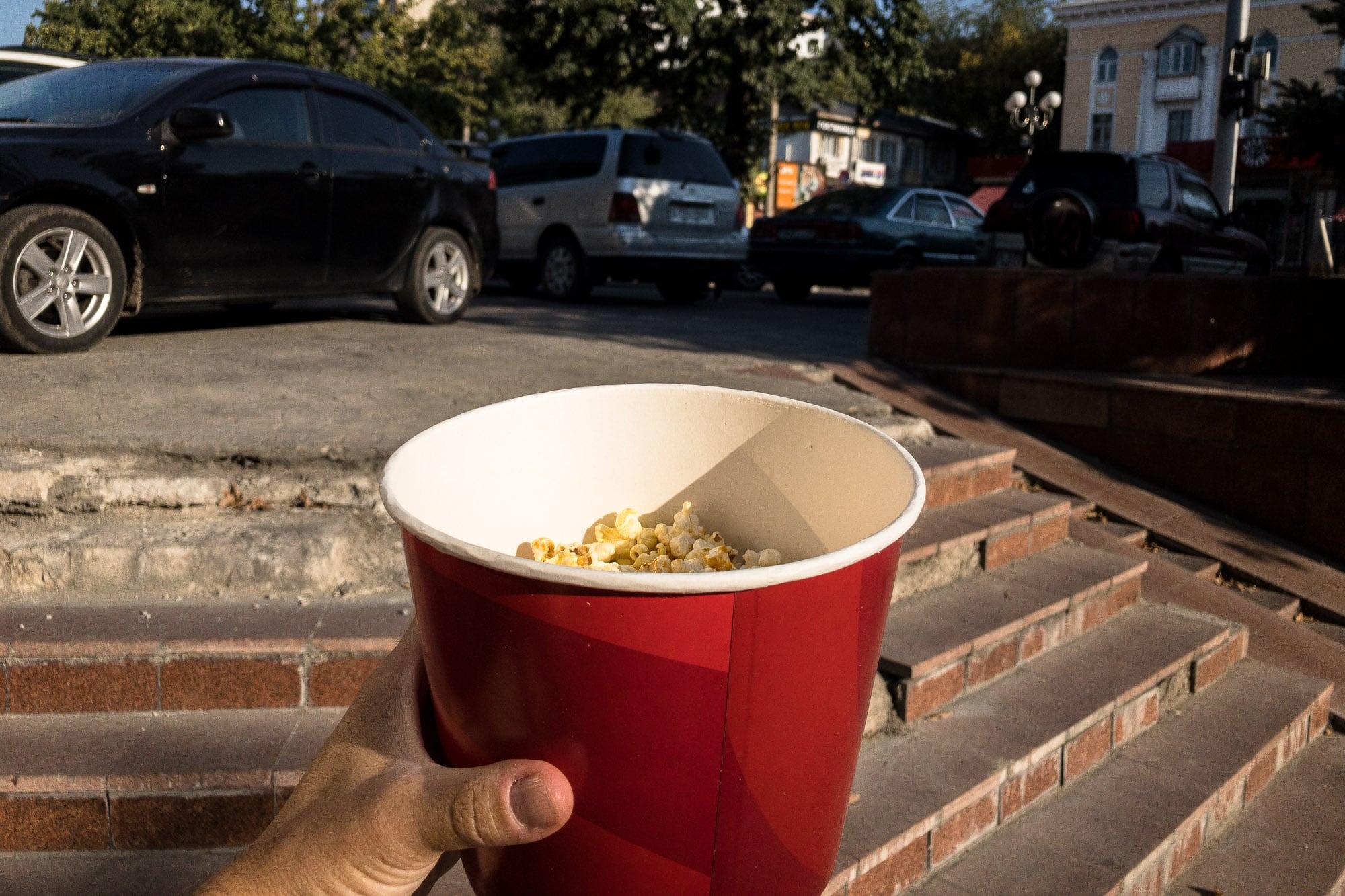 less popcorn