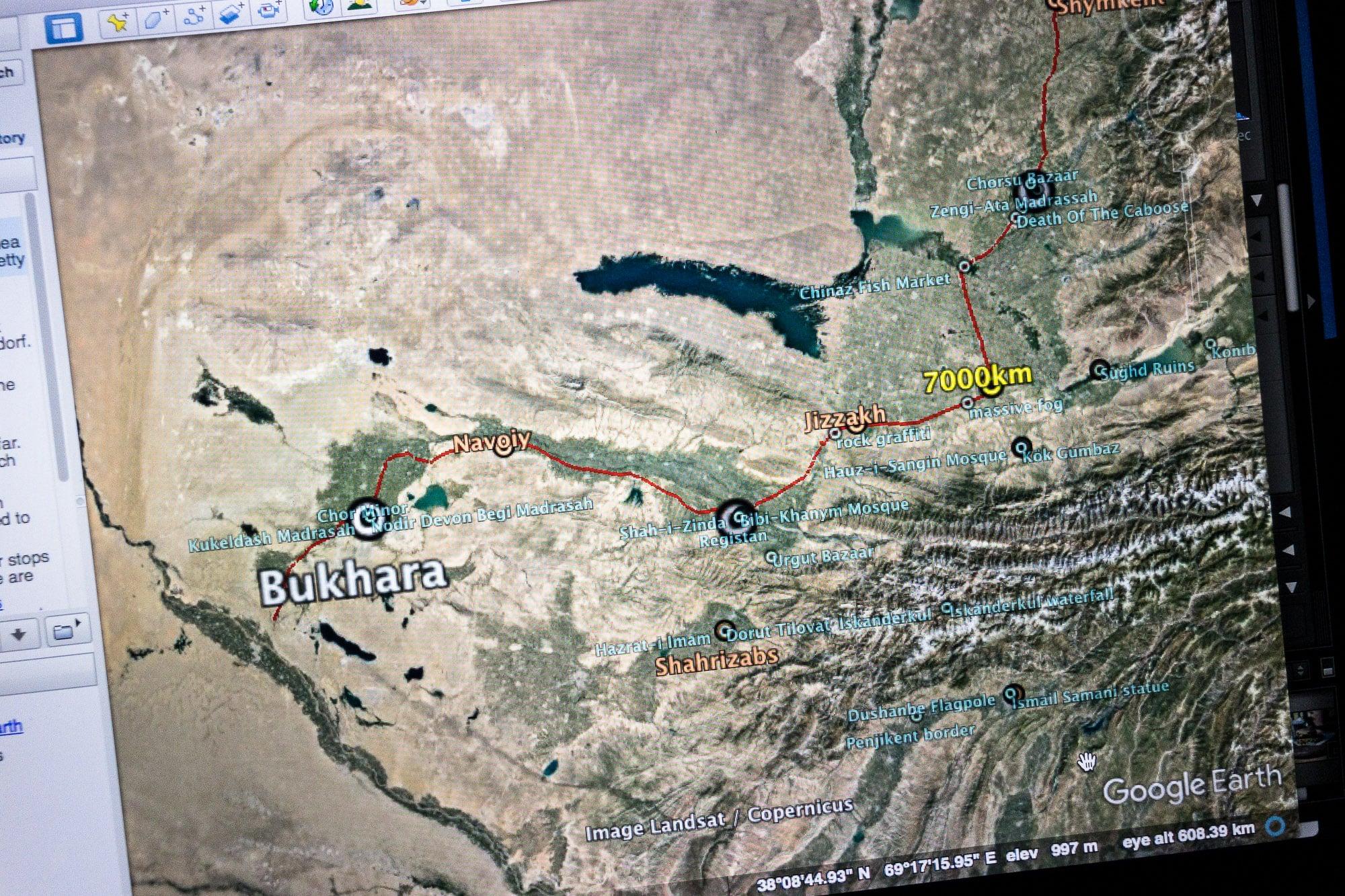 Google Earth file up close