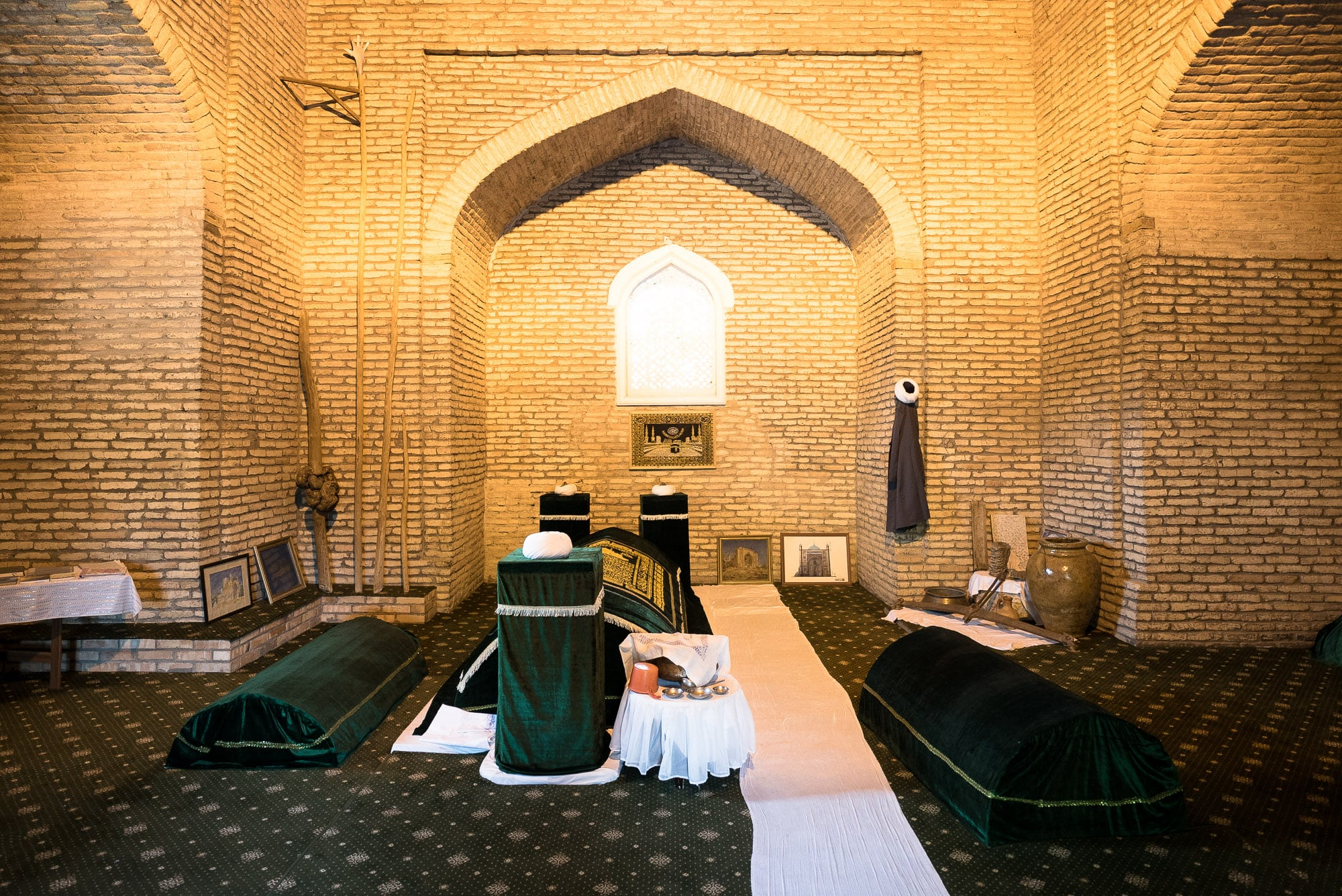 inside of Sheyh Zayniddin's mausoleum