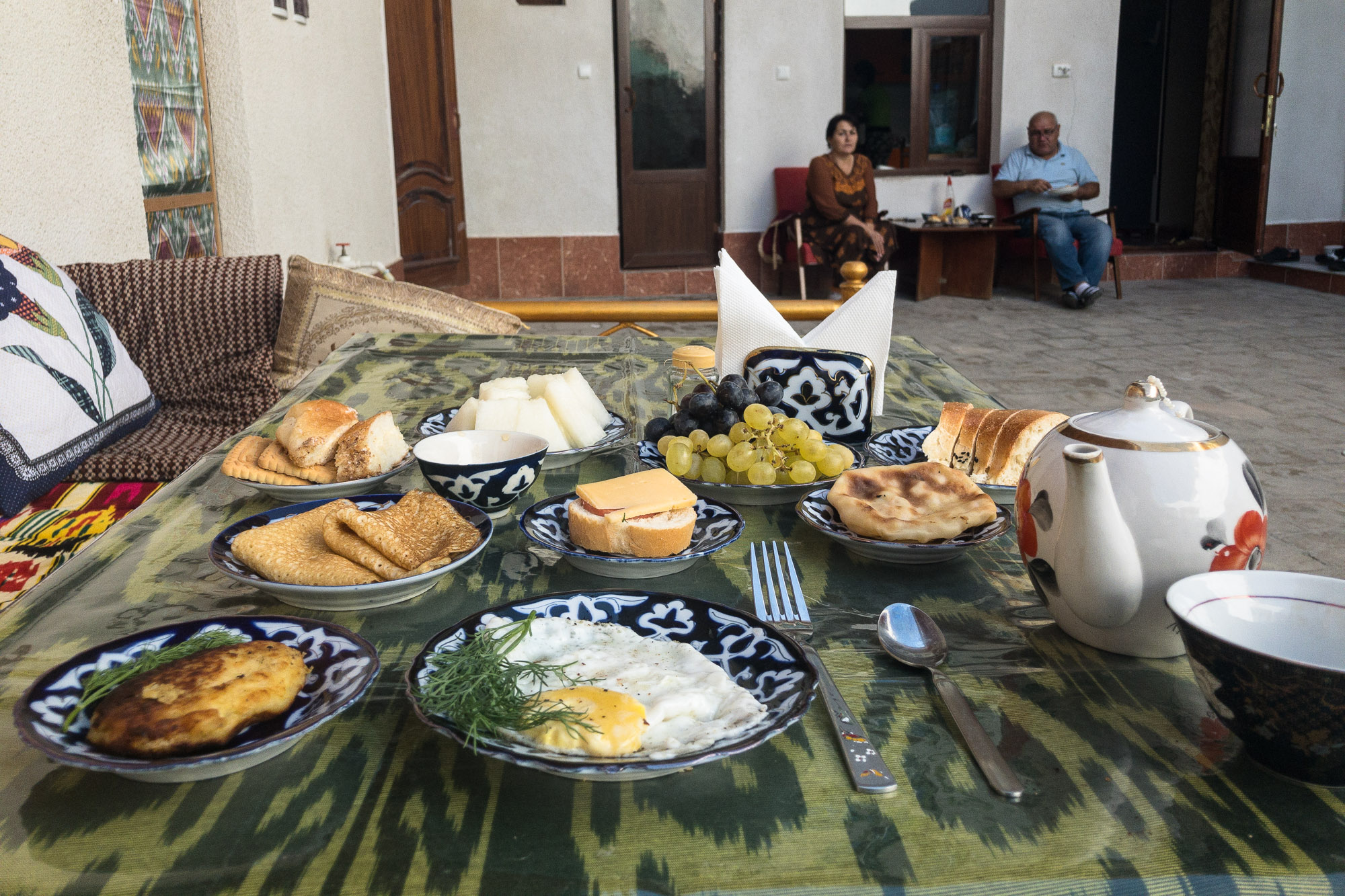 breakfast in Bukhara