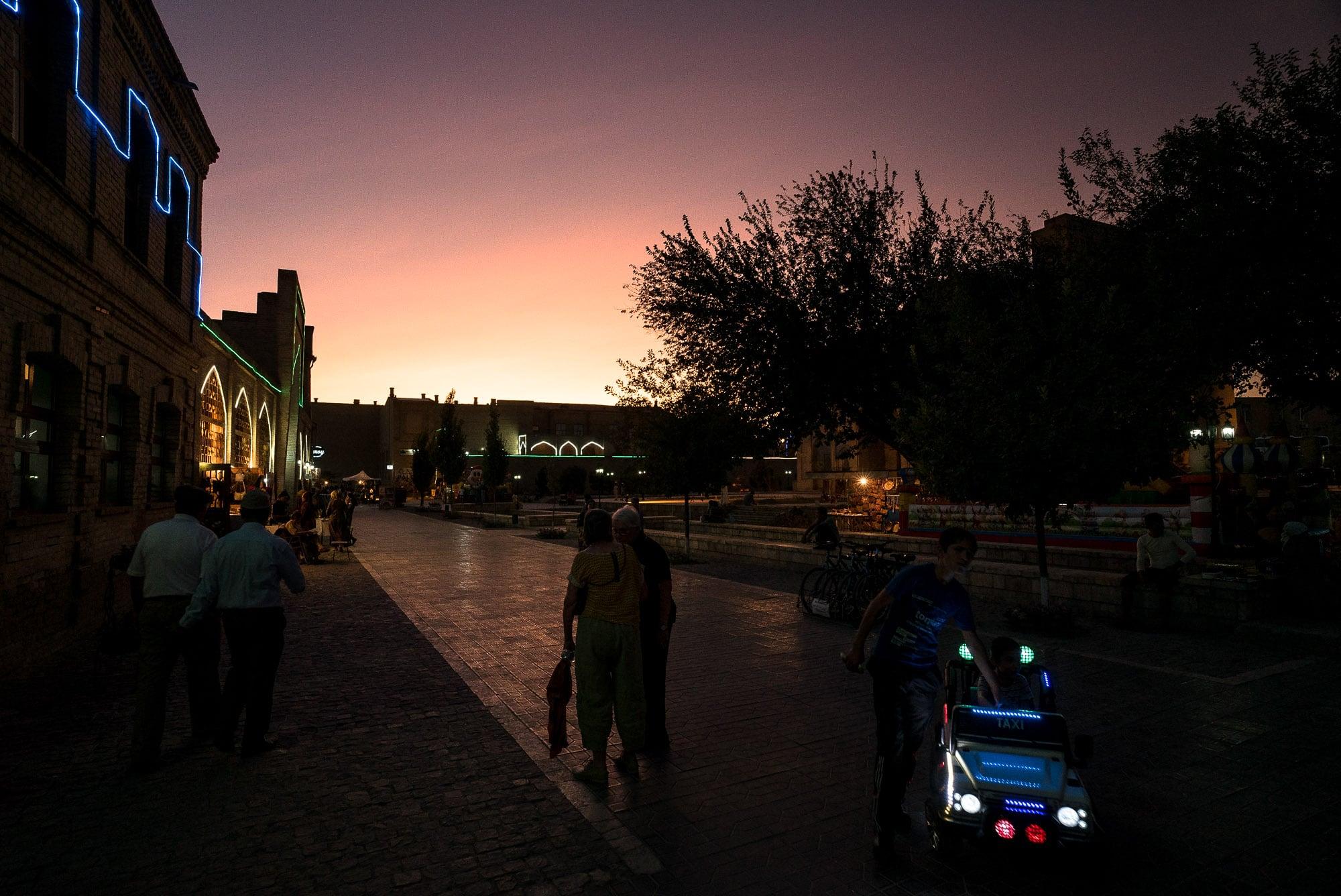 Bukhara at nightfall
