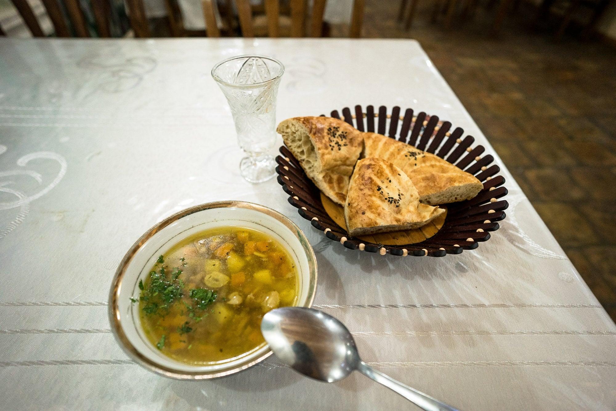 last dinner in Bukhara