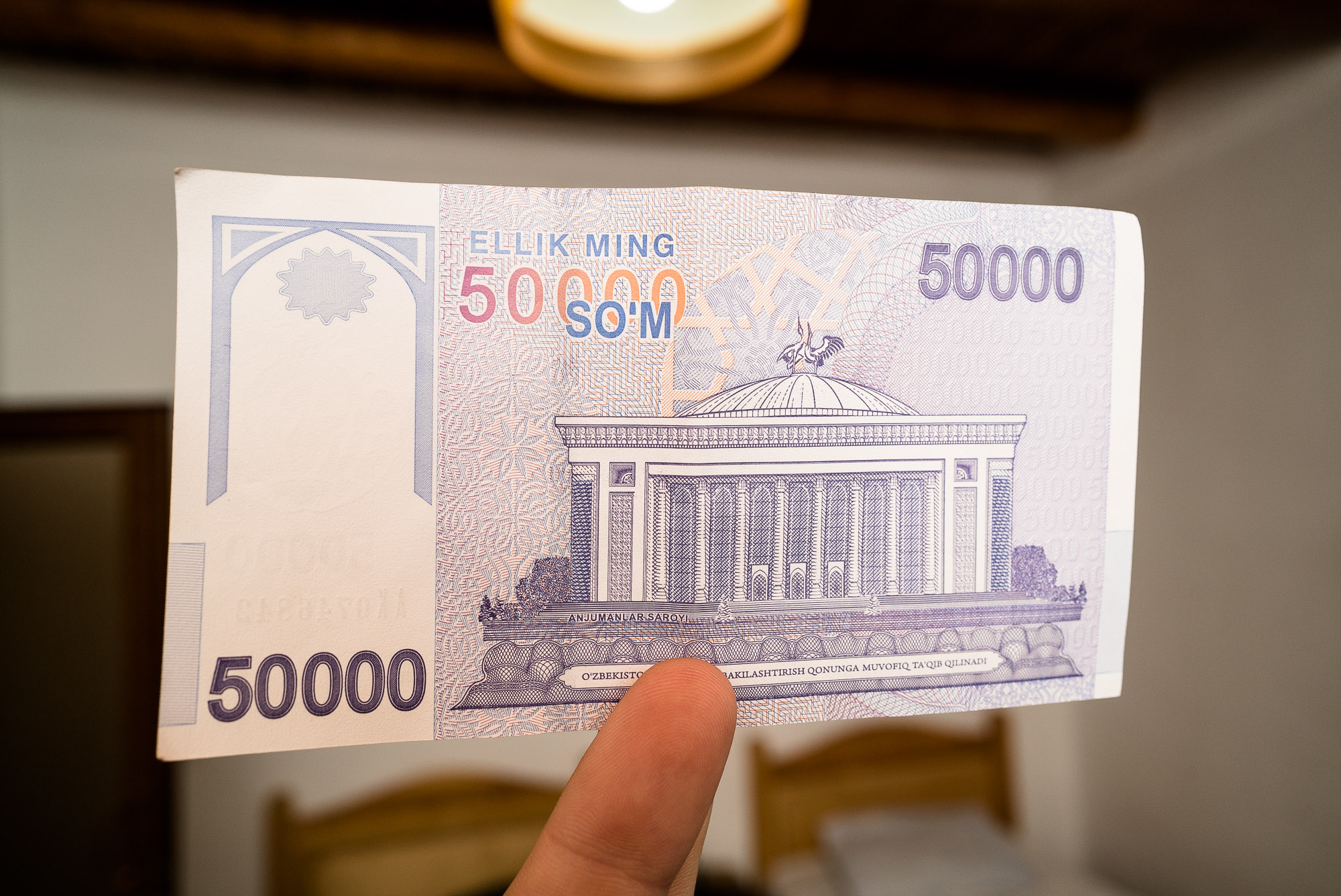 new fifty thousand som note