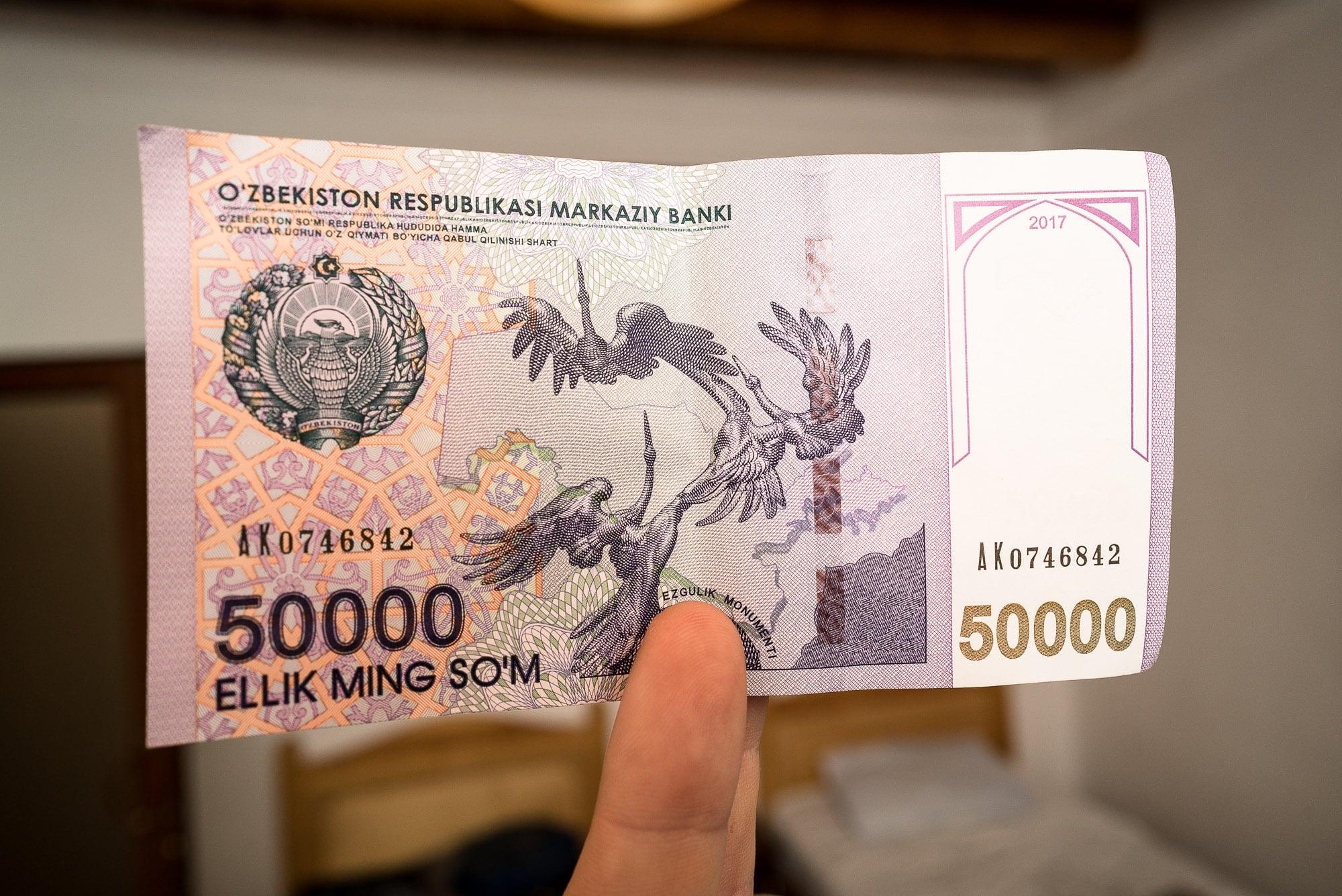 new 50000 som note