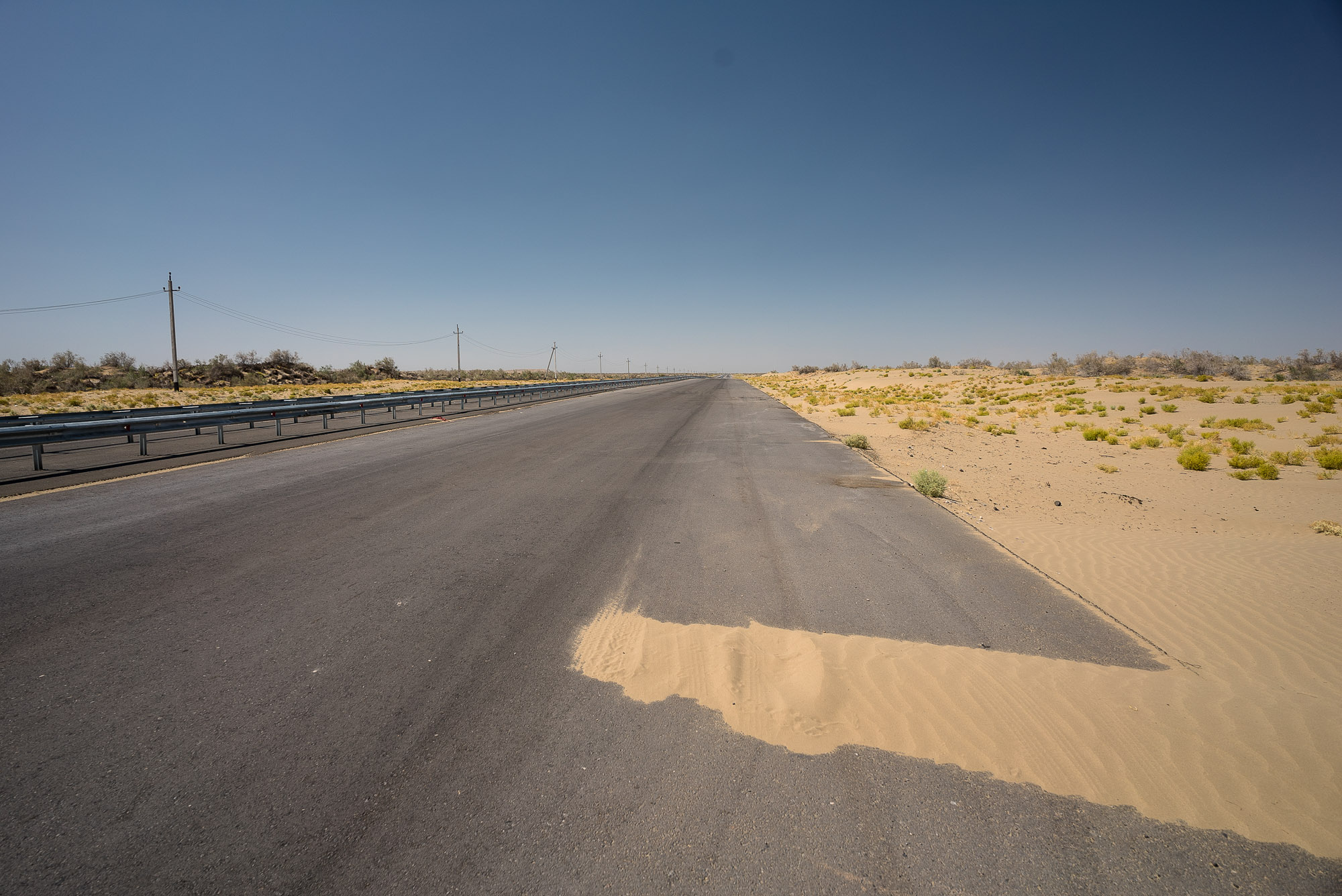 first piece of road in Turkmenistan