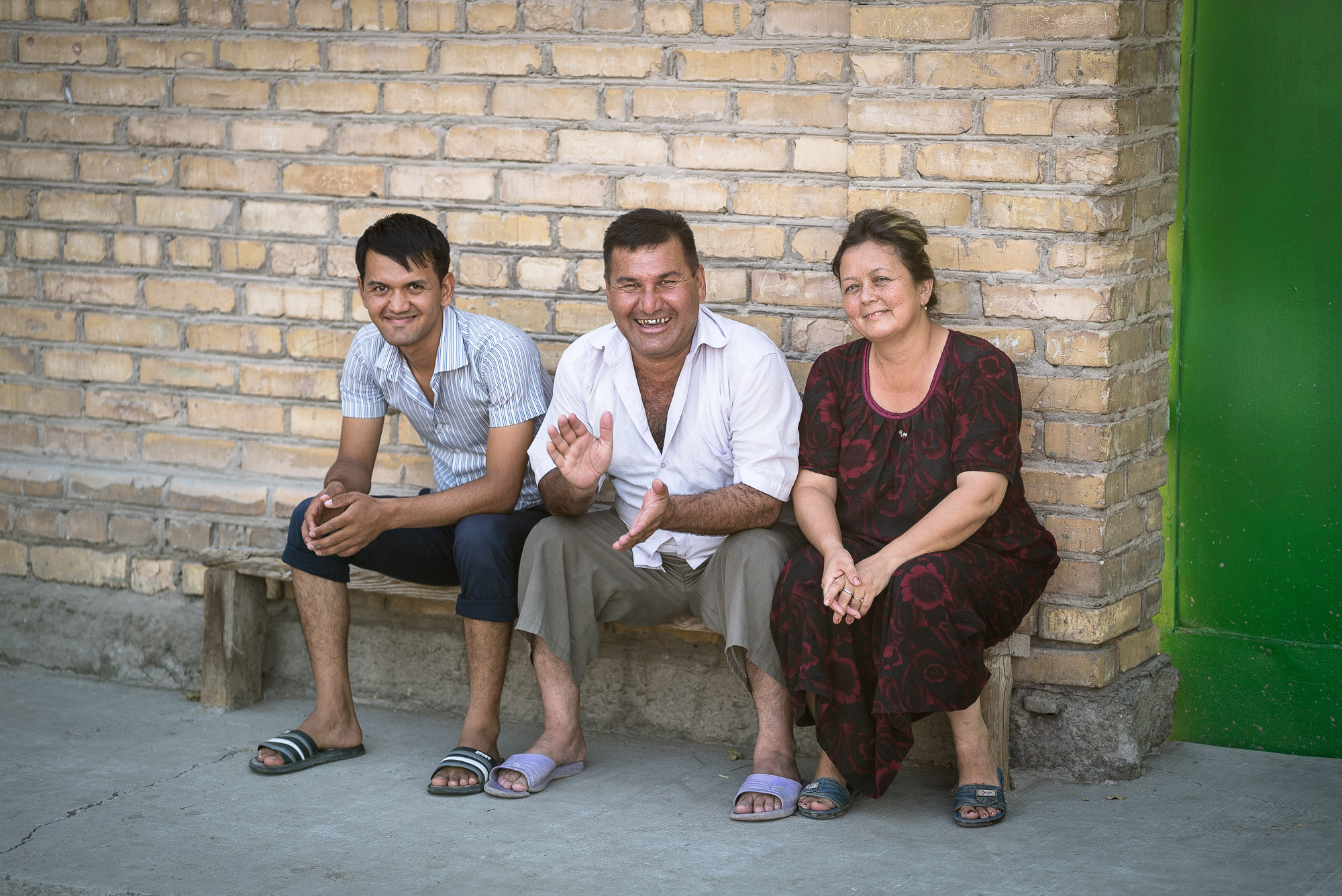 family in Turkmenabat