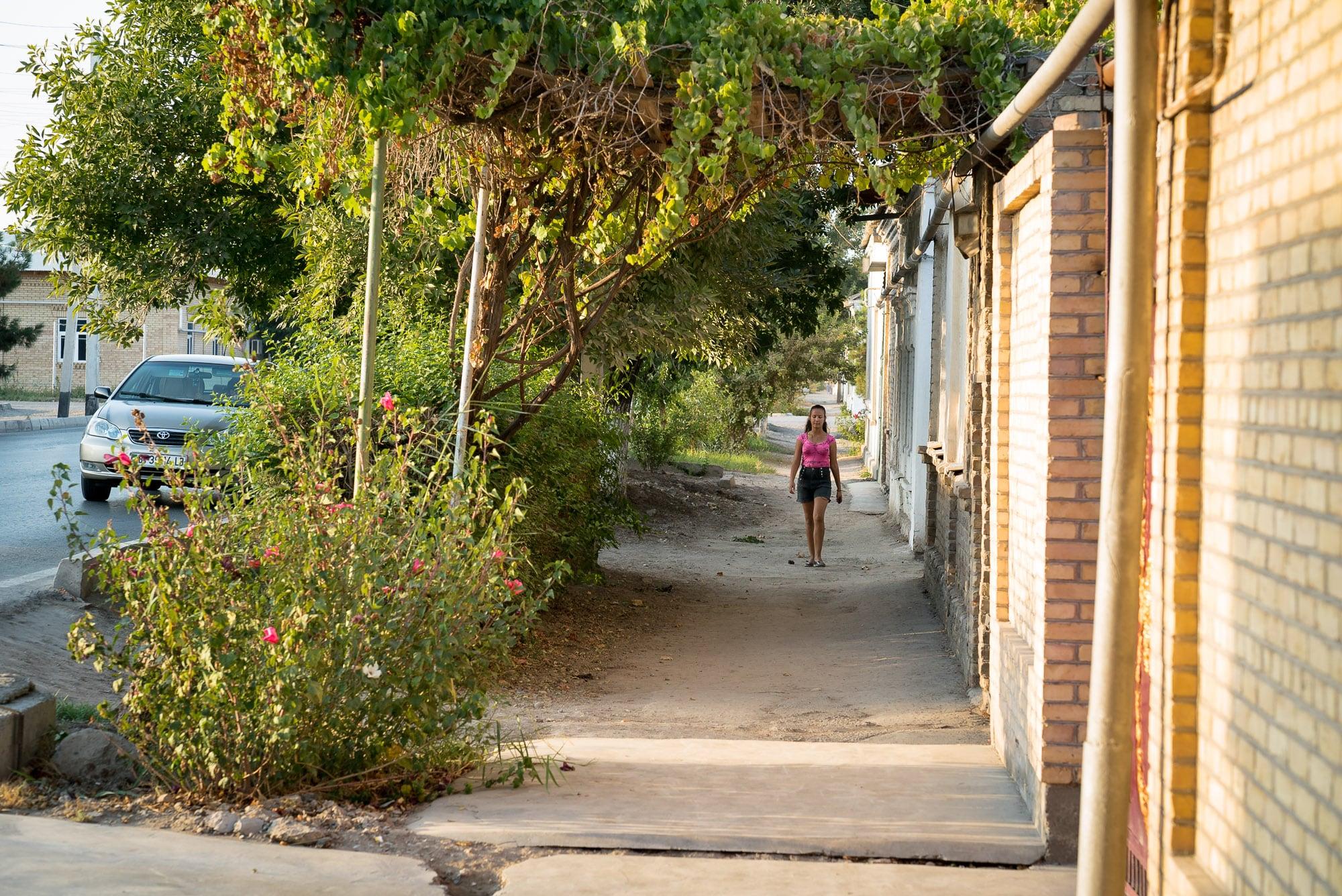 sidewalk in Turkmenabat