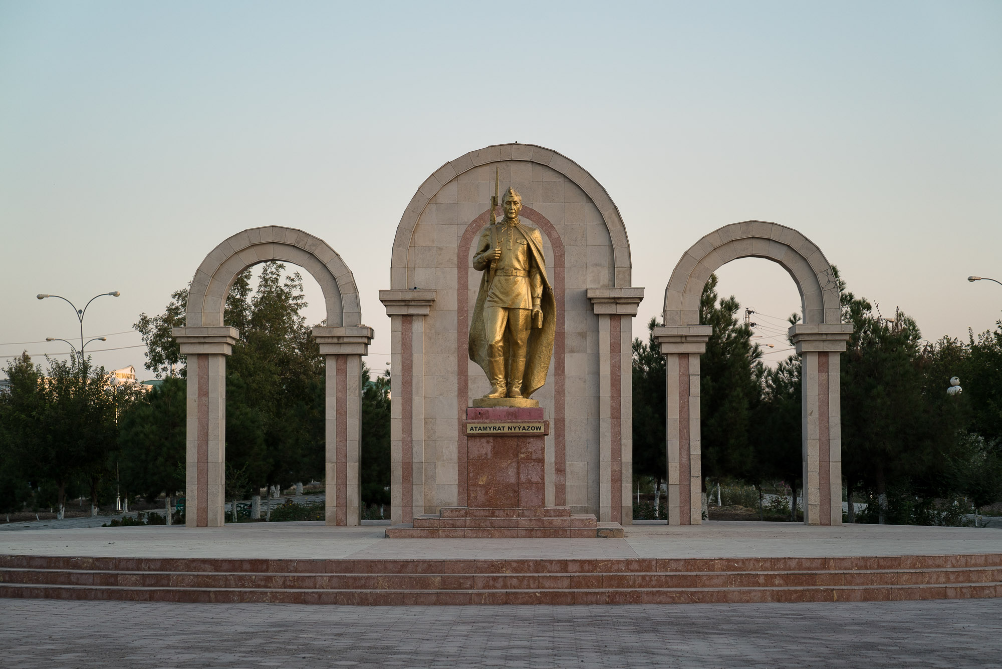 WWII monument in Turkmenabat