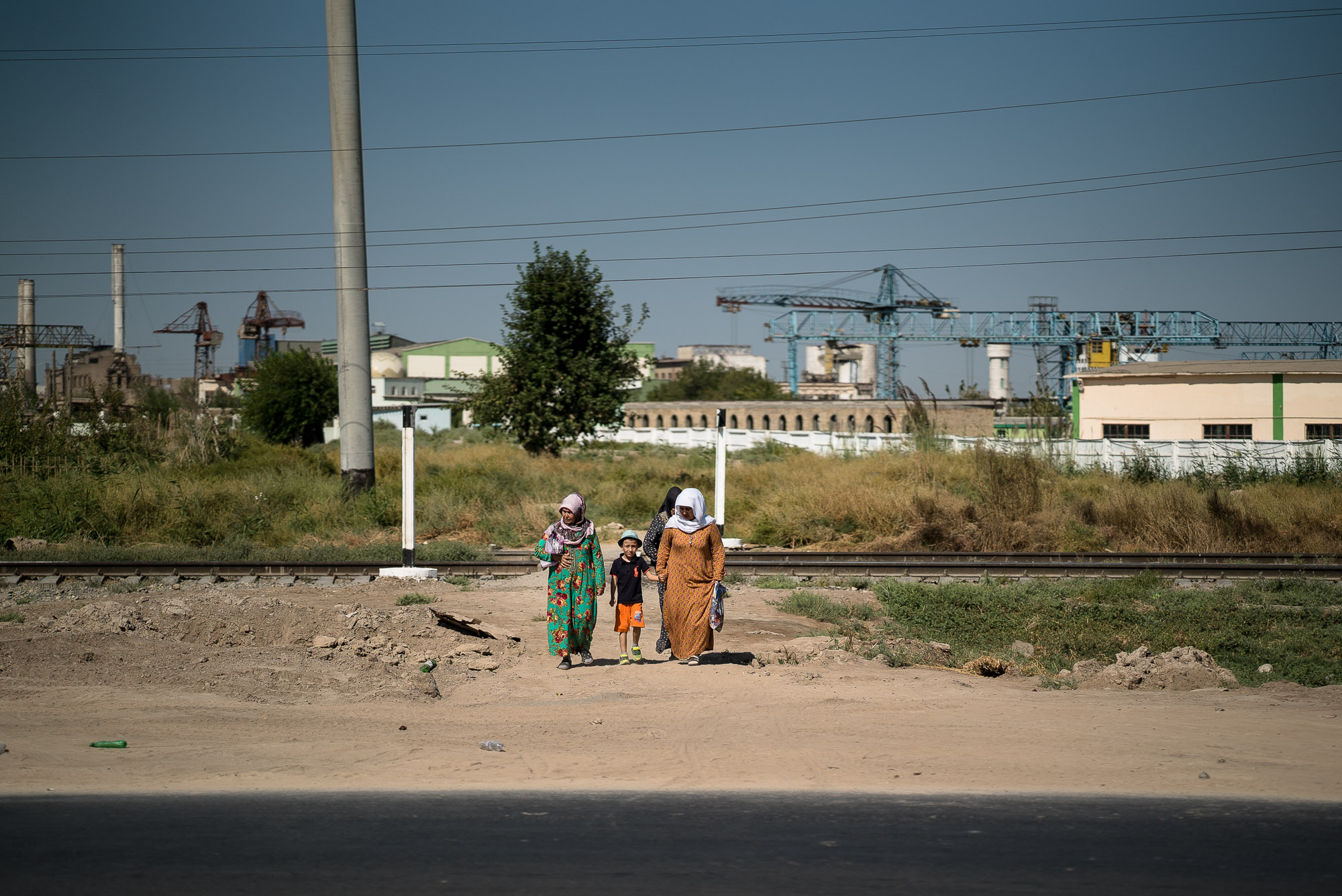 ladies with child near Turkmenabat
