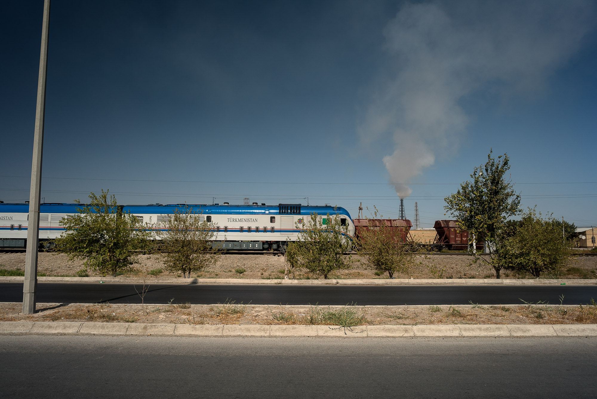 train in Turkmenistan