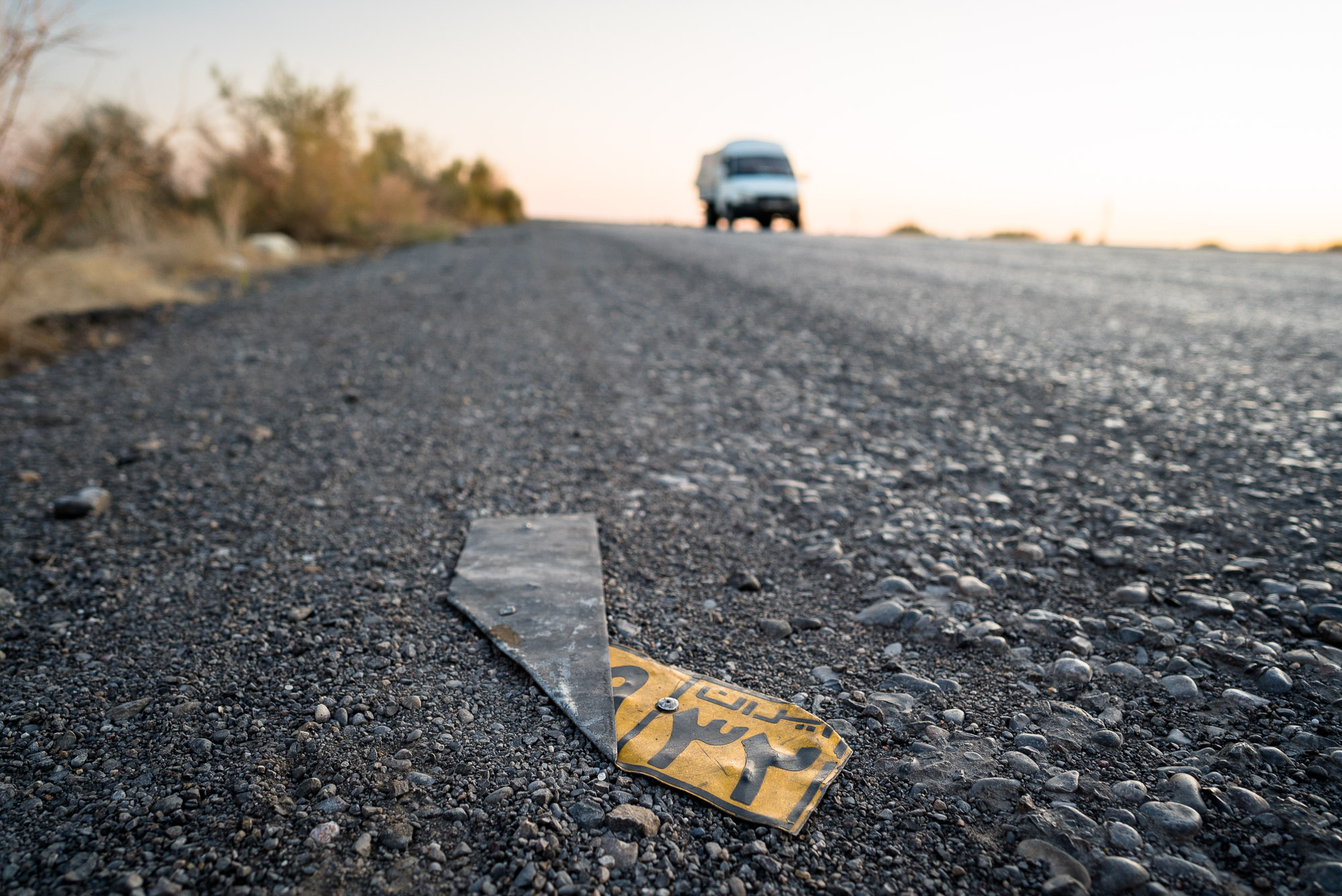 lost iranian license plate