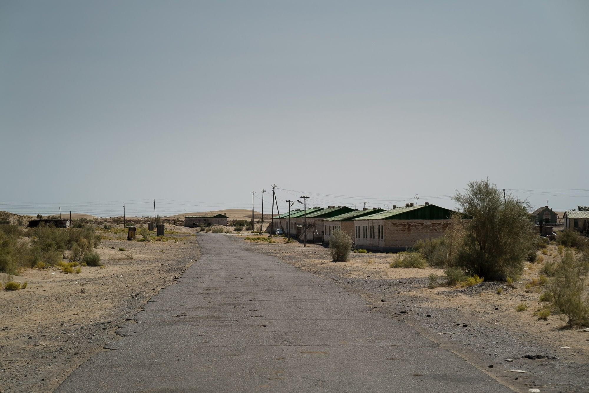 settlement in the Turkmen desert